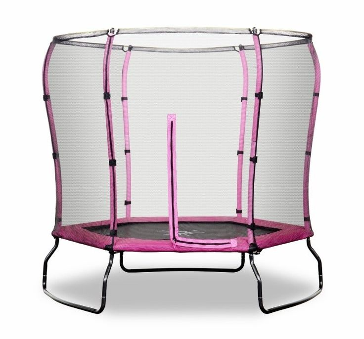 Rebo 7FT Safe Jump Trampoline With Safety Enclosure - Pink #trampoline #play #kids #fun #outdoortoys #kidstoys