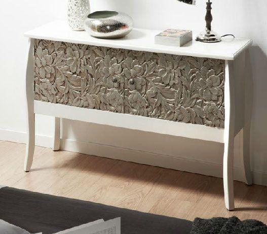 M s de 25 ideas incre bles sobre aparador blanco en pinterest pasillo ikea decoraci n de - Muebles pintados en plata ...