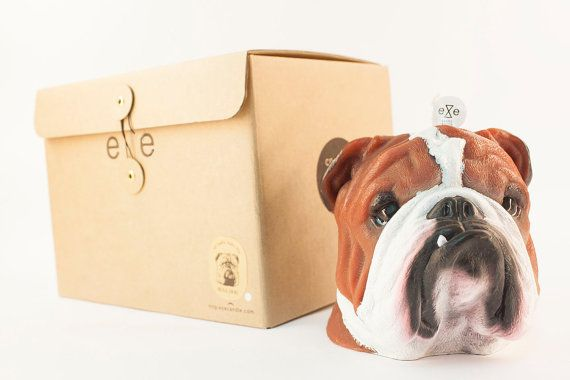 Painted Bulldog Scented Candle & package
