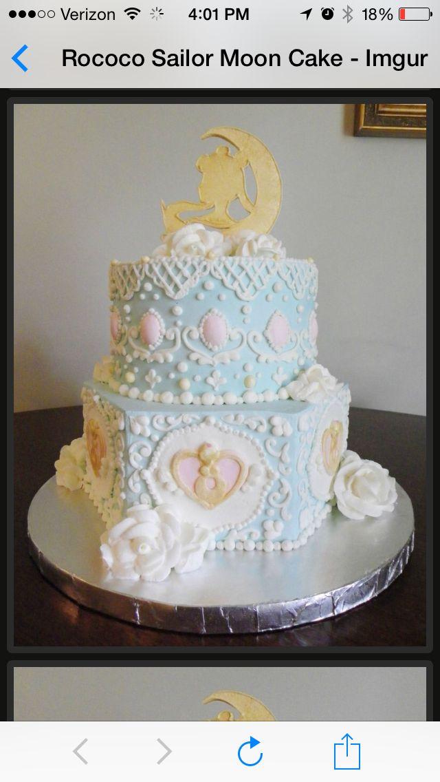Liz sailor moon wedding cake