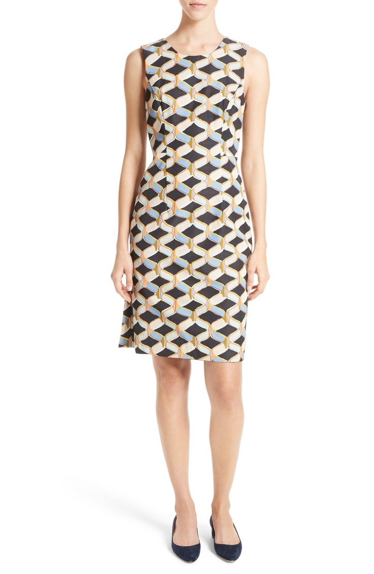 Milly Kendra Chain Print Shift Dress available at #Nordstrom