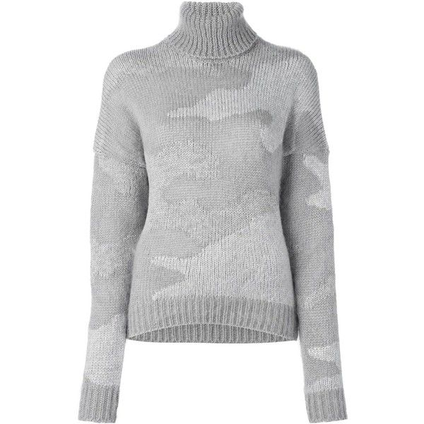 08Sircus camouflage jumper ($787) ❤ liked on Polyvore featuring tops, sweaters, grey, print sweater, jumper top, gray top, camo sweater and camouflage sweaters