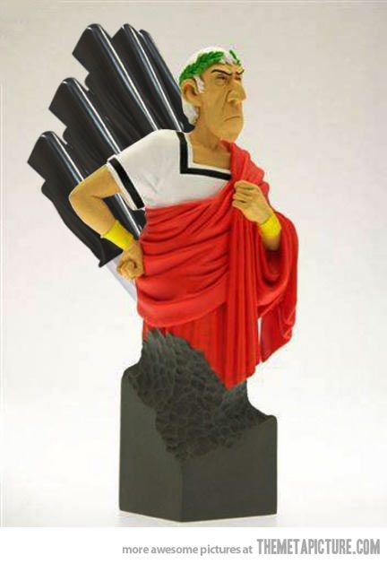 Julius Caesar knife holder