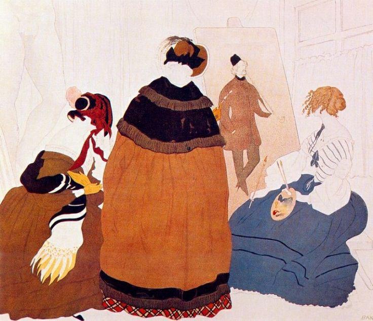 В студии художника 1908. Леон Бакст