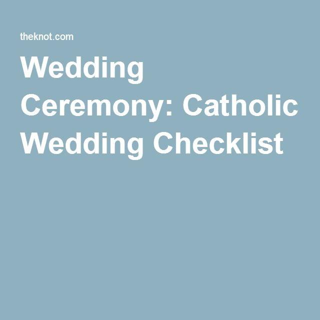 Catholic Wedding Ceremony Planning Checklist