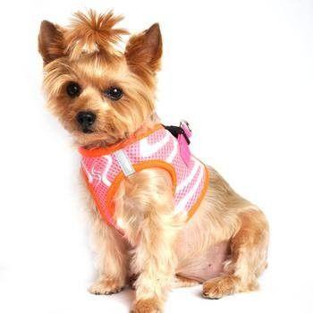 American River Neon Sport Dog Harnesses - Iridescent Pink, XXS