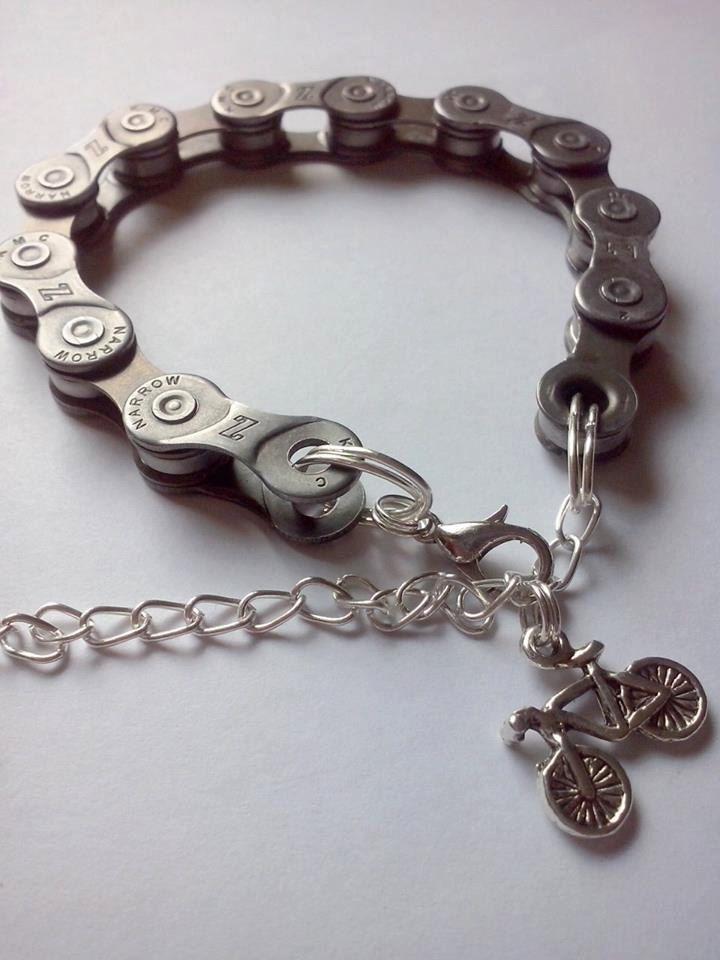 Bike chain bracelet,tijewelry,bike bracelet ,bike love bracelet,triathlon bracelet by TriJewelry on Etsy