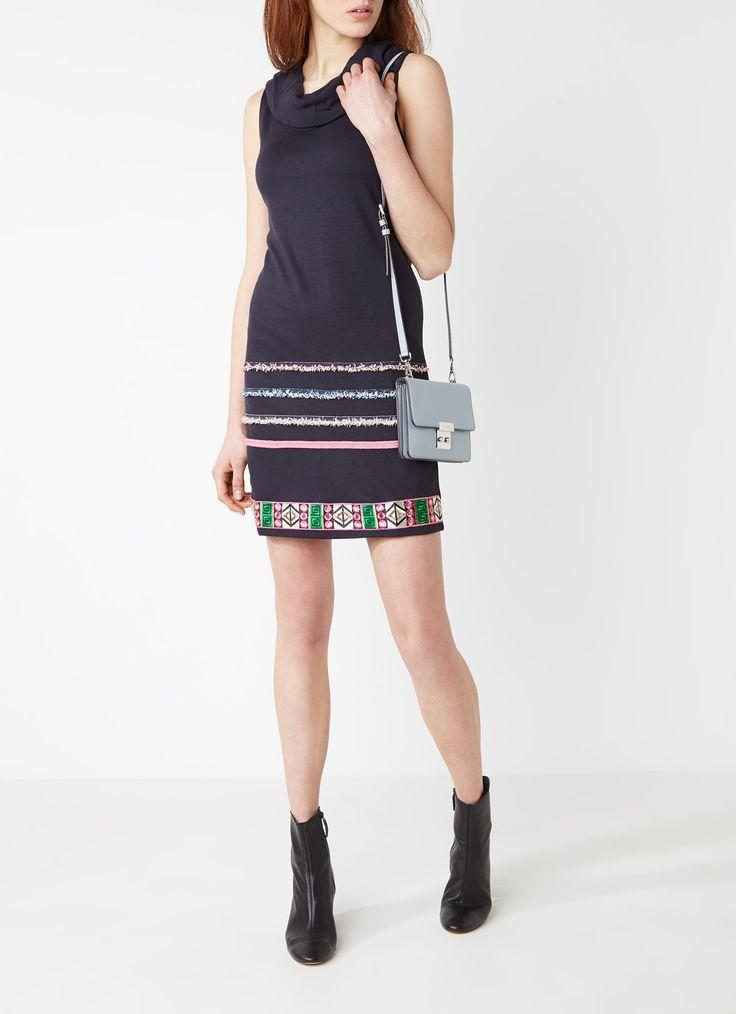 Desigual Boho jurk met watervalhals en borduring • de Bijenkorf