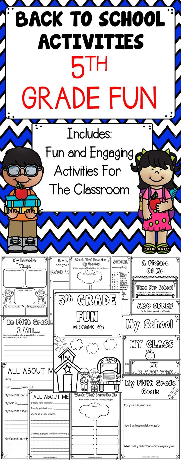School Worksheets 5th Grade : Th grade fun is a and engaging back to school