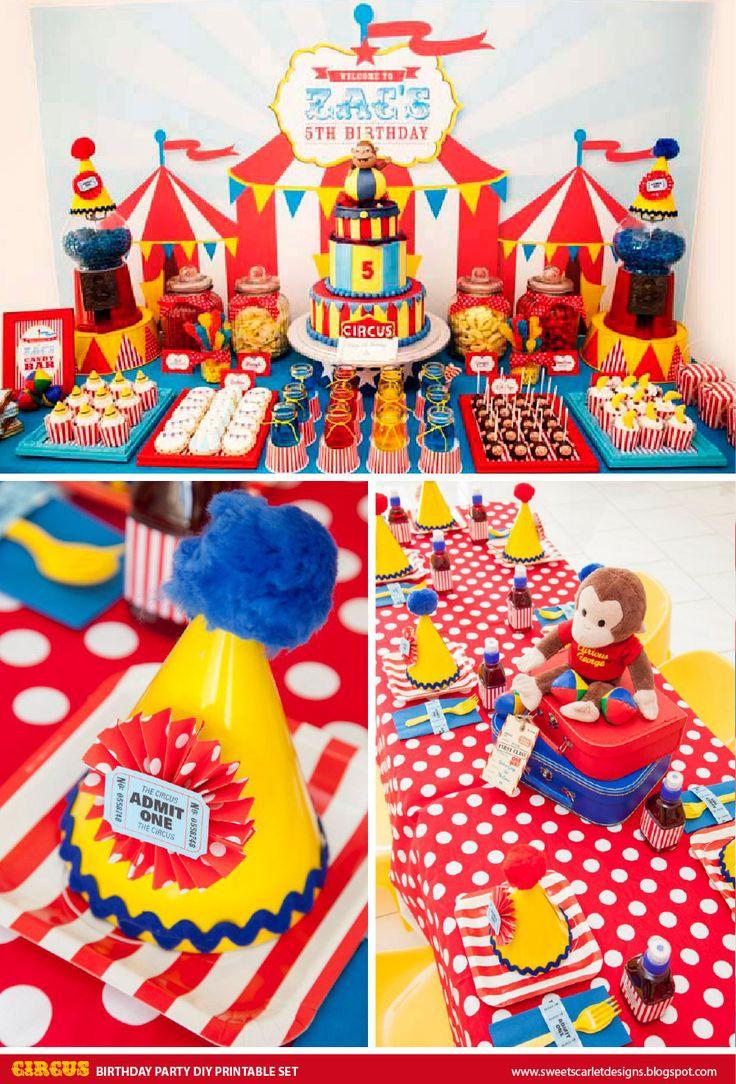 CIRCUS Birthday Party Printable Set  by SweetScarletDesigns, $24.50
