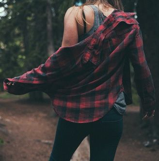 red flannel- I've been searching for one of these shirts! Finally found one the other day except it was part of the mens' section...I have to admit that sometimes men do have better shirts than women!