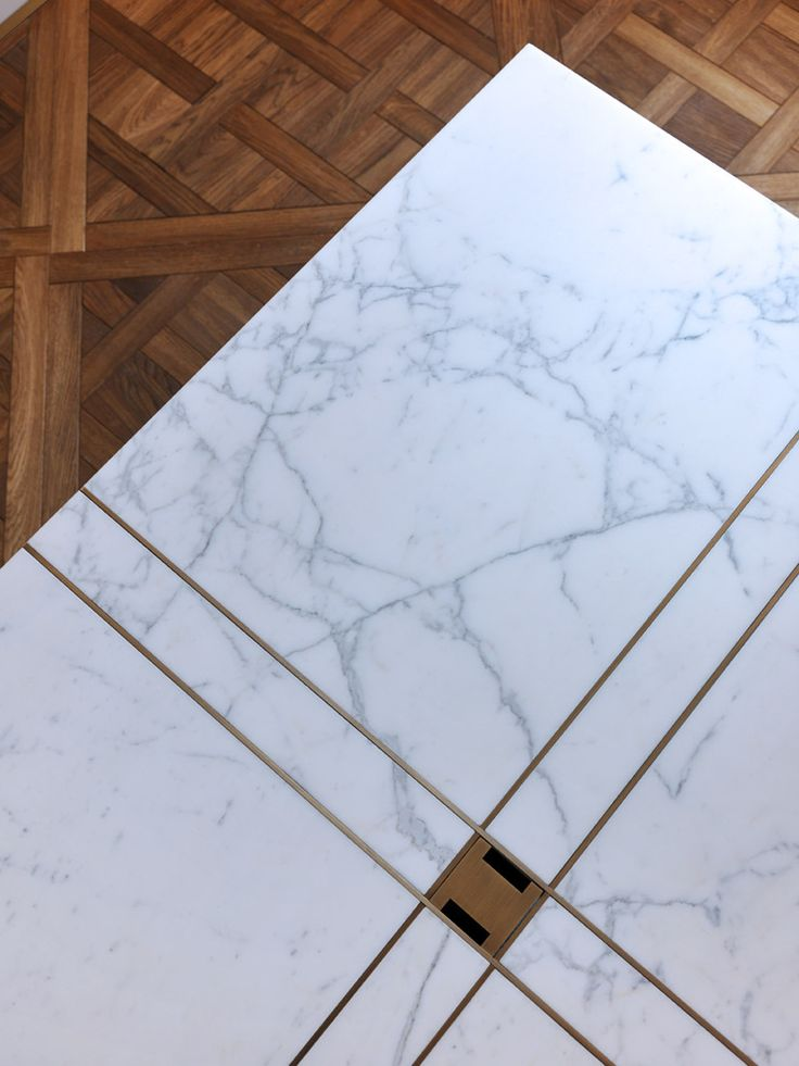 Marble + brass detailing.
