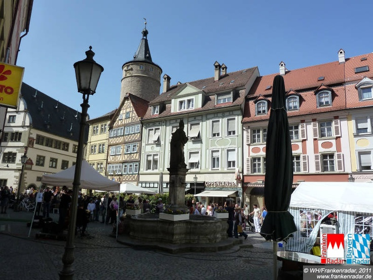 Markplatz Kitzingen Germany- Used to buy the best brats ever here.
