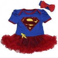 Body Superman Menina TUTU Vermelho