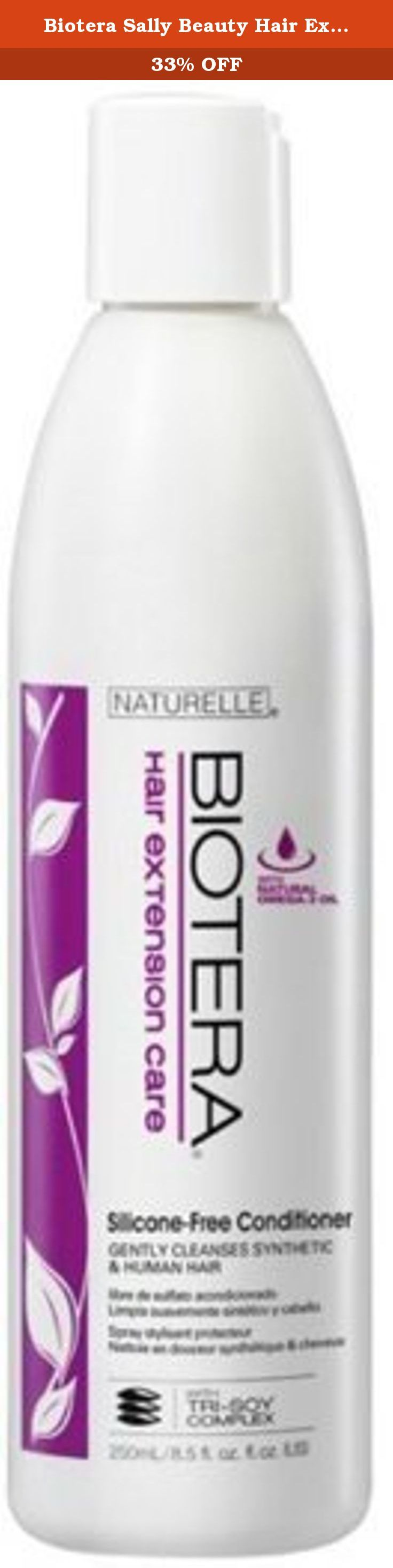 Biotera Sally Beauty Hair Extension Care Conditioner. Biotera, Sally Beauty Hair Extension Care Conditioner gently conditions with natural Omega-3 Oil to help replenish lost moisture and emollients in dry or parched hair extensions.