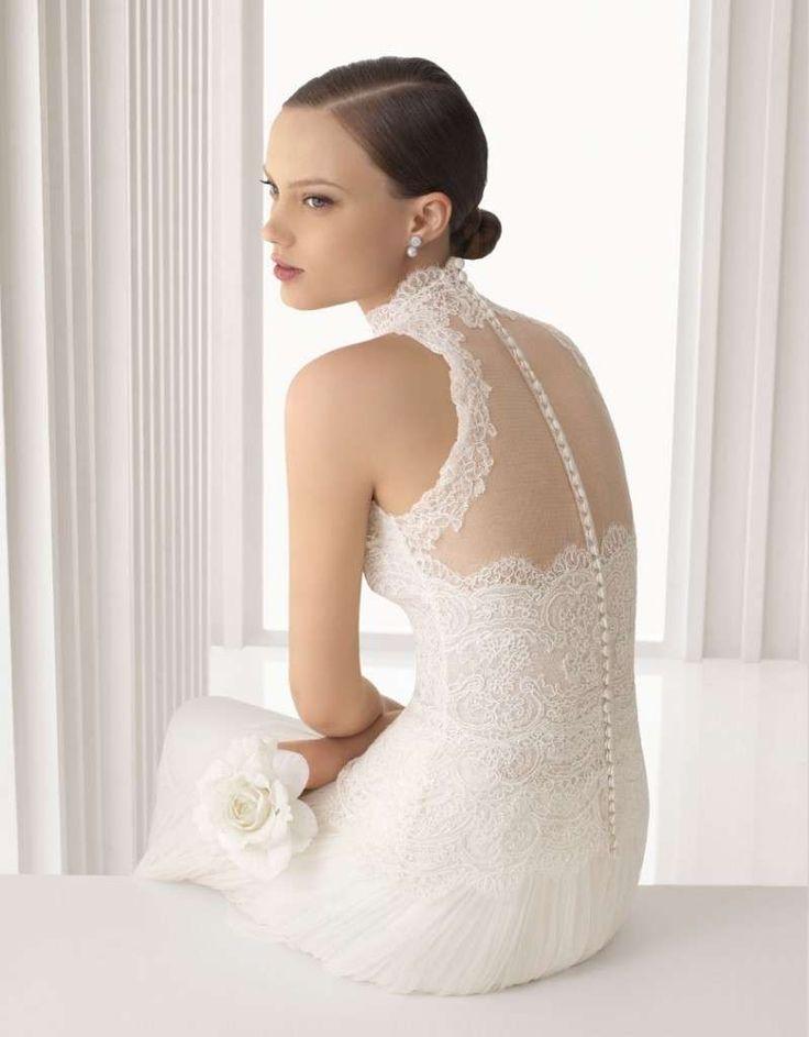 Abiti da sposa per donne basse - Abito da sposa scollato sulla schiena