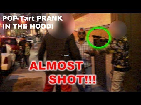 POPTart Prank   HOOD Prank Gone WRONG (Almost SHOT!)