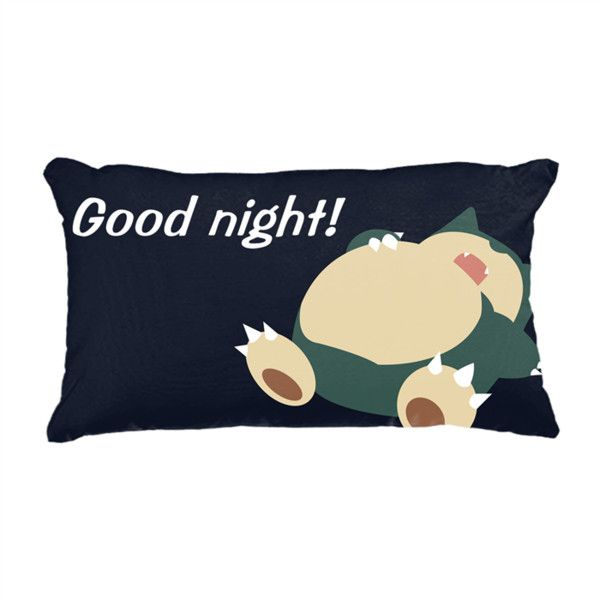 """Good Night 20"""" x 36"""" King Size Pillow Case 20"""" x 36"""" King Size Pillow... (48 BAM) ❤ liked on Polyvore featuring home, home decor, throw pillows, knit throw pillow, white throw pillows, white home accessories, lumbar throw pillow and personalized throw pillows"""