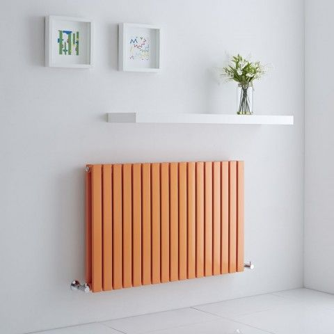 Orange Milano Capri - A stunner of a flat panel radiator to add a different dimension to your home's heating.