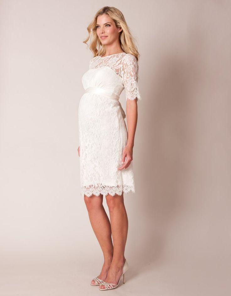 style bateau short lace ivory maternity wedding dresses