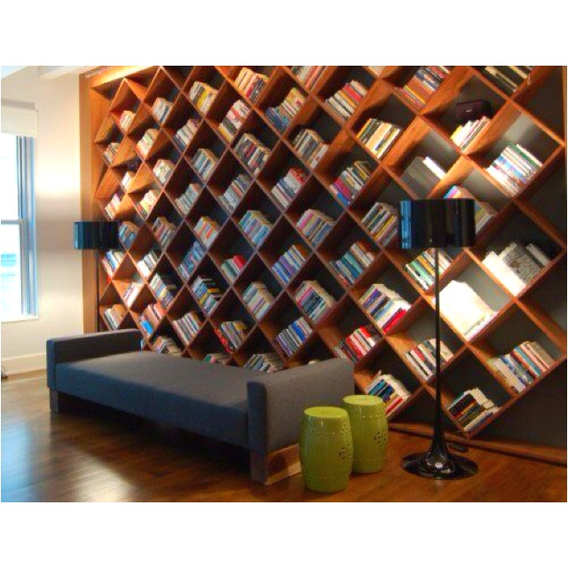 I want a bookshelf like this...with a ladder :-D