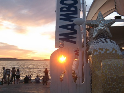 #Ibiza Cafe Mambo Ibiza perfect place for the hen night sunset and then the party starts