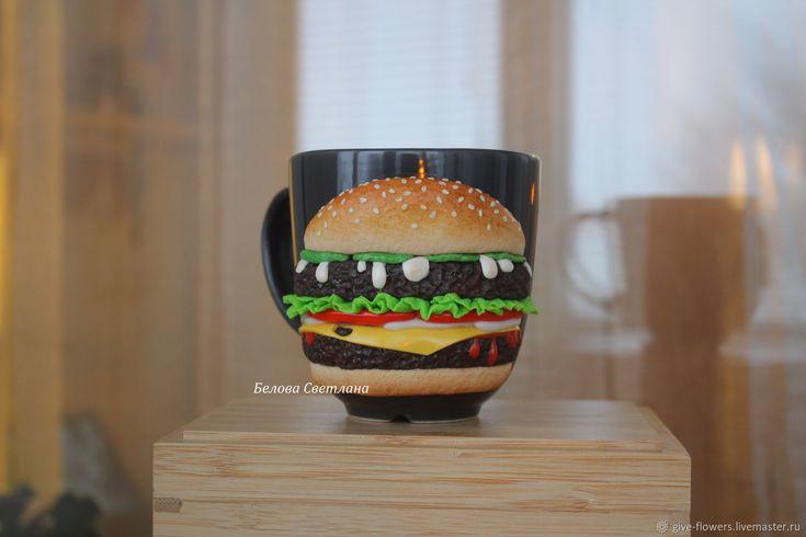 Кружка Гамбургер – купить в интернет-магазине на Ярмарке Мастеров с доставкой