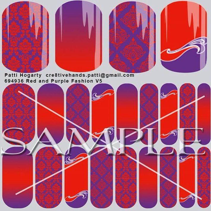 My custom nail wraps with red & purple hats. Great for Red Hat Society members. Amazing detail. I can order these or ask me how to design your own. Do you think I should design pink & lilac ones too?  https://docs.google.com/forms/d/1EJw2klf6atqAchNWw5ofNC5tx_cP2BsvoSjLhawbt28/viewform #nailart #nail #manicure #redhat #redhatsociety