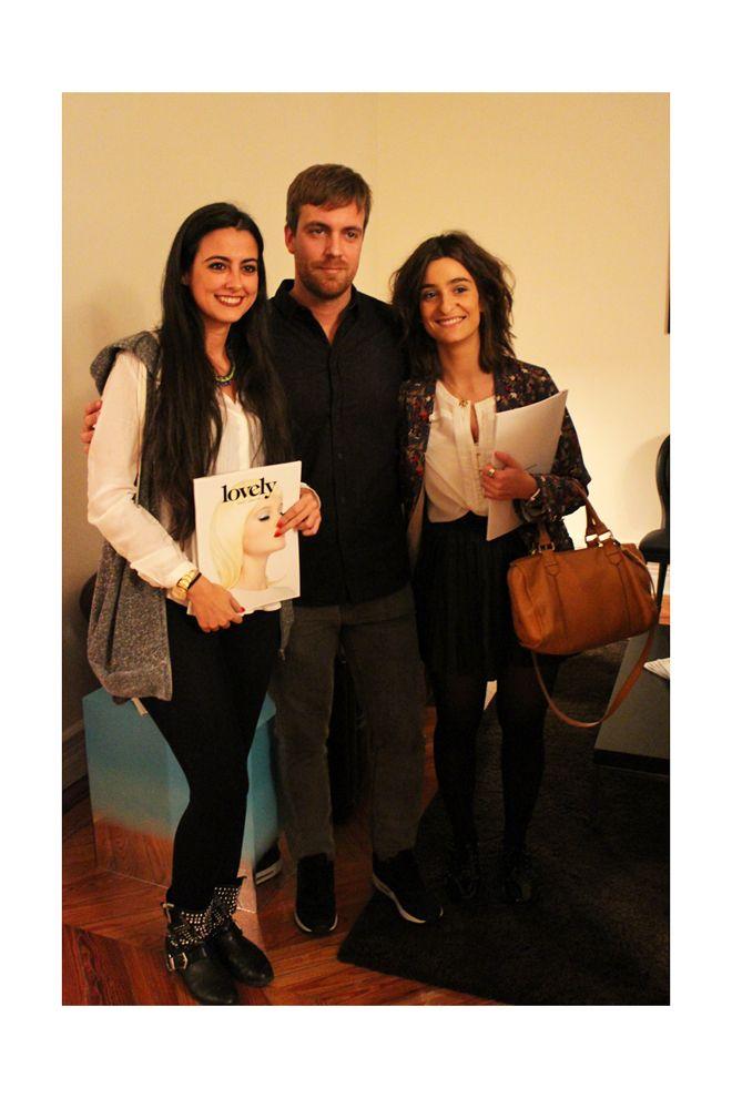 Chalo, director creativo de #Lovely con dos amigas estilistas