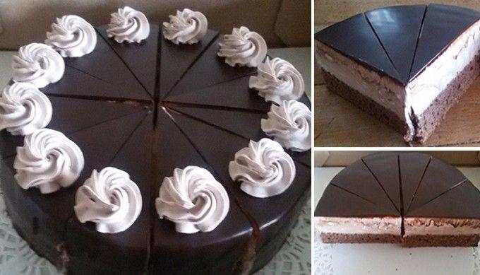 Šlehačkový pařížsky dort - FOTOPOSTUP