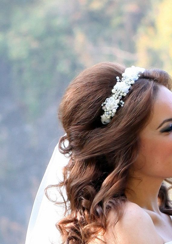 Bridal Hairpiece Bridal Headband Bridal Hair Piece by medusa12, $60.00