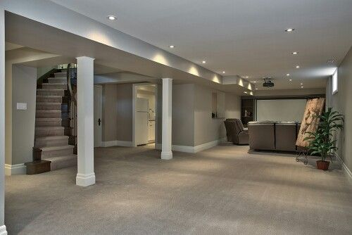 Basement with theatre and kitchen