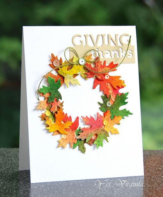 Бумажные открытки с осенью, днем смайла новогодняя