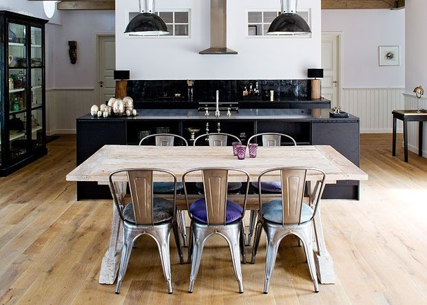 Open plan home, living area, dining area, kitchen