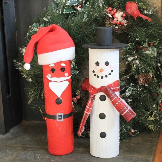 How to make a fence post Santa, snowman, diy, crafts, wood, cedar fence posts,