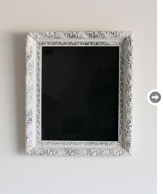 Great, unique addition to my office - antique frame + chalkboard paint = genius!