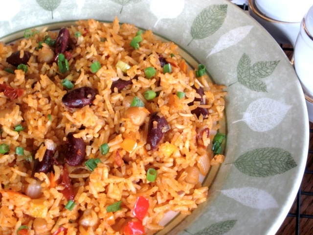 Rice with Beans Sun-Dried Tomatoes and cocnut milk