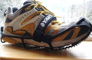 (Winter Running Gear) I use YakTracks in the winter to run on snow and ice...works like a charm!