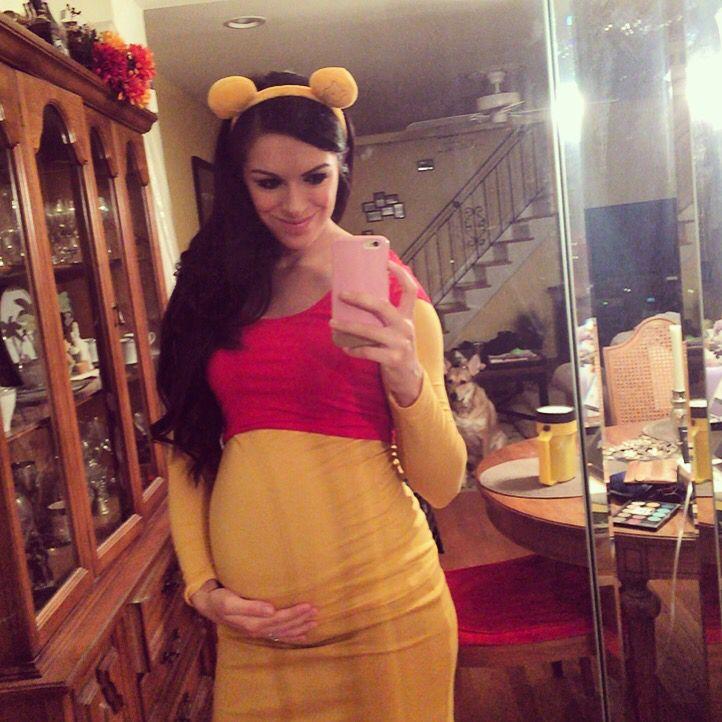 winnie the pooh halloween costume - Maternity Halloween Costumes Pregnancy