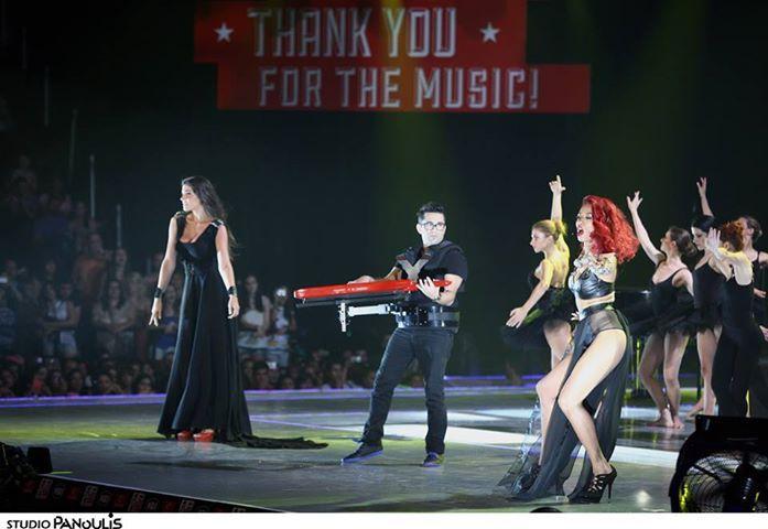 Anise K , Shaya and Evi Adamou ad Mad music awards 2013