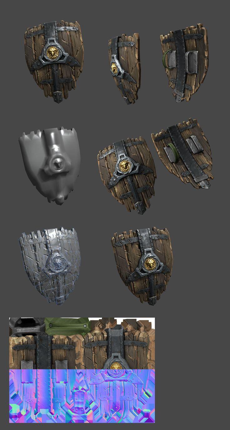 ArtStation - Old Version of medieval shield, Martin Kepplinger