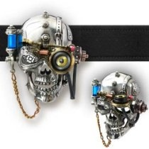 Necronaut Alchemy Gothic Steampunk Belt Buckle