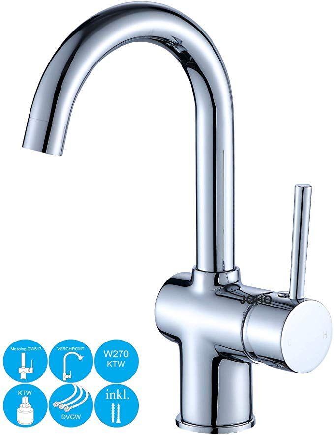 Joho Waschtischarmatur Waschbeckenarmatur Wasserhahn Hochdruck