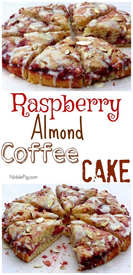 Raspberry Almond Coffee Cake from NOblePig.com.