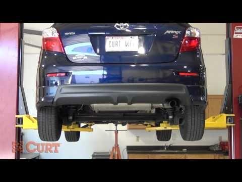 Trailer Hitch Installation: CURT 12221 for 2003-2011 Toyota Matrix & 2003-2010 Pontiac Vibe GT - YouTube