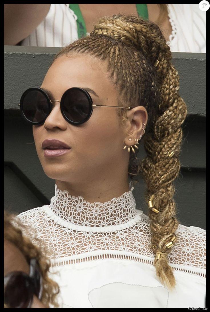 Beyonce et son mari Jay Z assistent à la finale dames du tournoi de Wimbledon le 9 juillet 2016. Elle oppose Serena Williams à Angelique Kerber. © Stephen Lock/i-Images via ZUMA Wire/ Bestimage