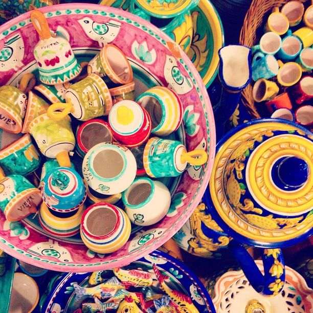 Comune di Vietri sul Mare, Vietri Sul Mare, Italy — by Little Mermaid At Sea. The vibrant colors of Vietri. This is best place in Italy to find traditional hand painted ceramic with wares ranging...