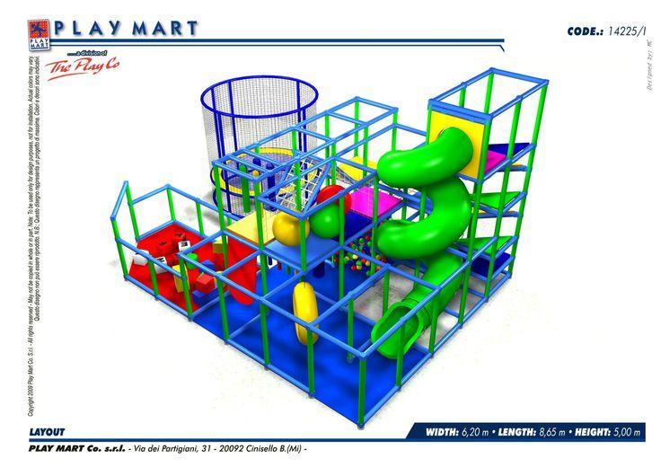 Play Mart - (codice C) struttura di gioco in ottimo stato; capienza ca. 50-60 bambini; possibilità di ampliamento; fornita con area 0-2 anni e con trampolino elastico diamtro ca. 3 mt. - POSSIBILITA' DI NOLEGGIO
