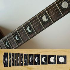 Moon Phases Fret Markers Inlay Stickers Decals Guitar