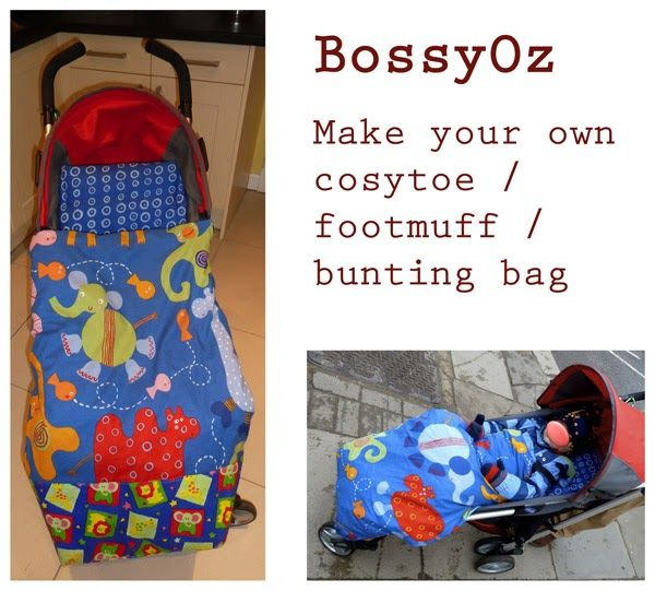I am going to show you how you can make your own custom sized pushchair bag, cozytoe, footmuff, bunting bag, or whatever you prefer to ca...
